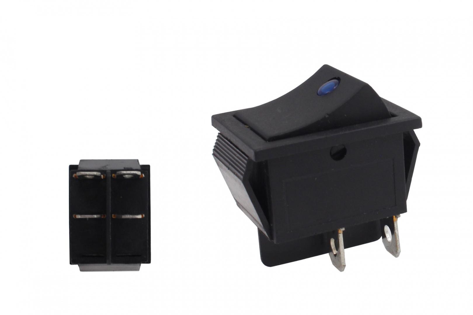 Włącznik rocker led 4 PIN Blue - GRUBYGARAGE - Sklep Tuningowy